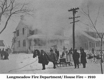 Longmeadow Fire Department/House Fire - 1910