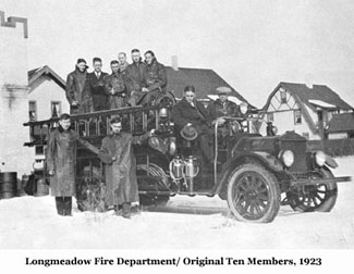 Longmeadow Fire Department/Original 10 Members, 1923