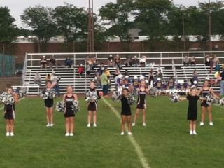 cheerleaders on field