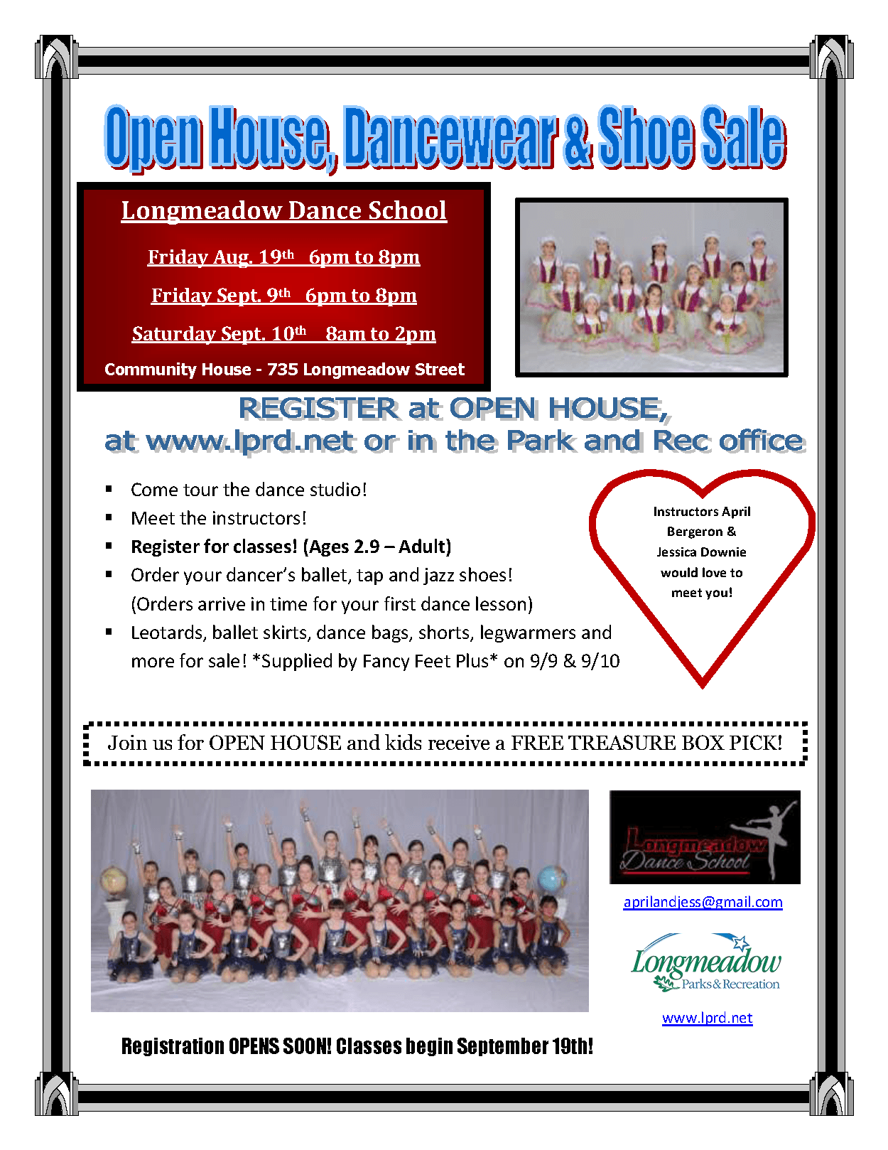 2016 Open House flyer