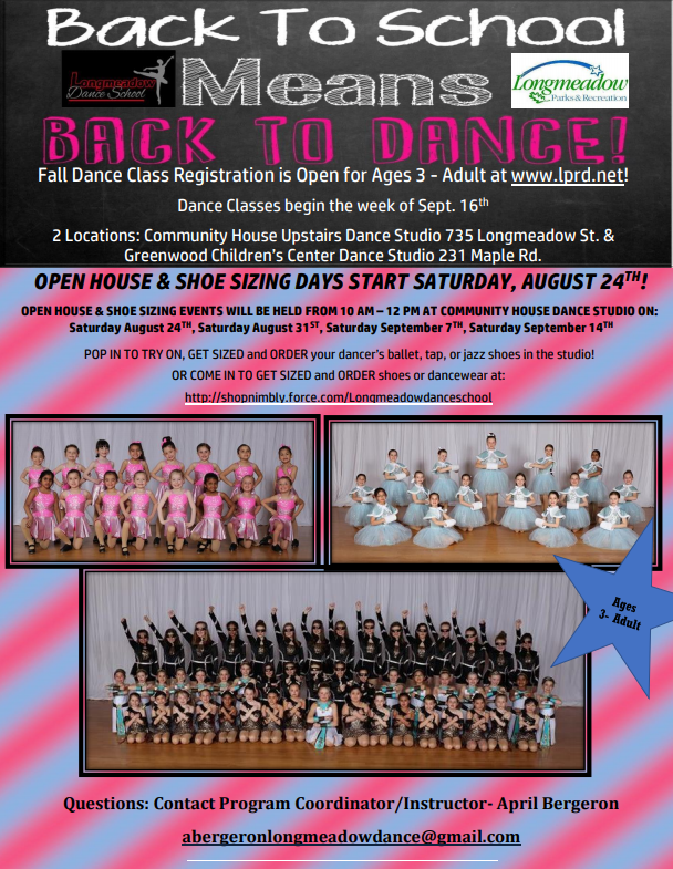 Back to Dance Flyer 2019-2020