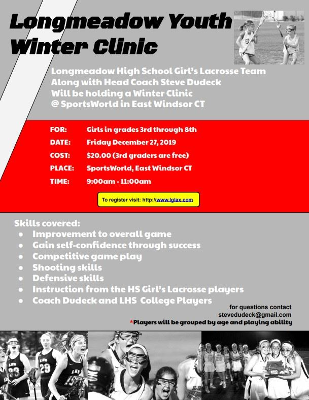 Longmeadow Youth Lacrosse Winter Clinic 2019