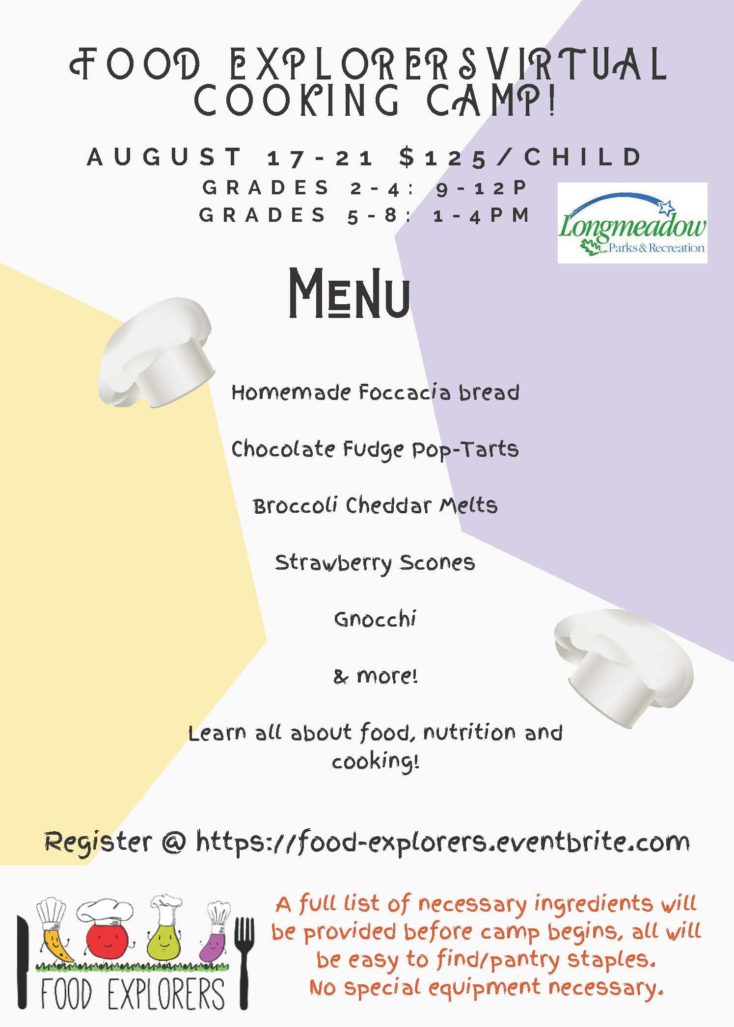 Food explorers Longmeadow Virtual Camp 2020 (1)