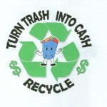 Turn Trash Into Cash - Recycle Logo