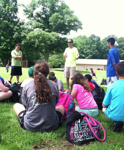 Town Manager Stephen Crane Visits Greenwood Camp